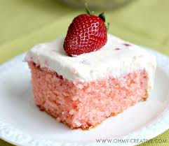 strawberry cake with whipped cream cheese frosting oh my creative
