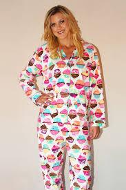 pj salvage cupcake flannel pajamas set fleurtique