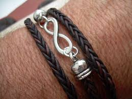 infinity braid bracelet images Infinity bracelet leather bracelet triple wrap mens womens jpg