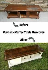 Coffee Table Into Bench Makeover An Old Coffee Table Into A Bench Such A Great Idea For