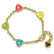 gold hearts bracelet images Kids bracelets crystal hearts bangle girls jewelry jpg