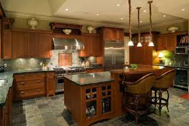 creamy brown kitchen paint color with natural oak cabinets