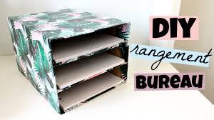 boite de rangement papier bureau diy rangement bureau pour vos feuilles avec boite de