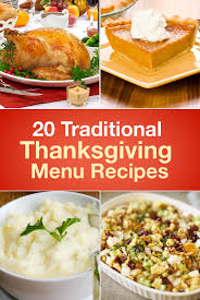 20 traditional thanksgiving menu recipes menu recipe thanksgiving