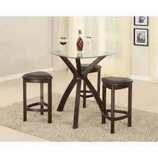 Glass Bar Table 4 Triangle Solid Wood Bar Table And Stools With Glass Top In