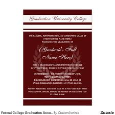 graduate invites stylish but formal graduation invitations