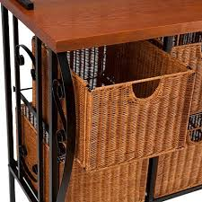 Dome Bakers Rack Ryde Iron And Wicker Baker U0027s Rack 7303575 Hsn