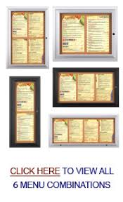 outdoor menu display cases lighted for 8 5x14 menus
