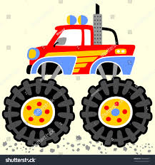 monster trucks clipart monster truck big wheels vector cartoon stock vector 556373047