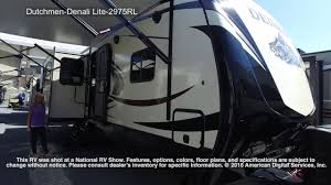 denali 5th wheel floor plans dutchmen denali lite 2975rl youtube