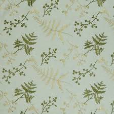 Tropical Upholstery Caribe Blue Floral Asian Foliage Embroidery Faux Linen Upholstery