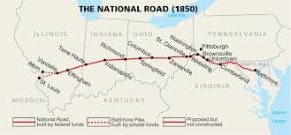 Lincoln Illinois Map by National Road The New Road That Connect Cumberland Maryland
