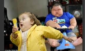 Running Baby Meme - fat girl runs from fat boy on cart blank template imgflip