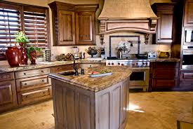 astounding country kitchen with subway sandstone tiles inside