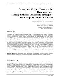 democracy 3 strategy guide democratic culture paradigm for organizational management and