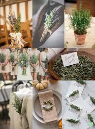 wedding floral arrangements wedding floral arrangements using rosemary the wedding community