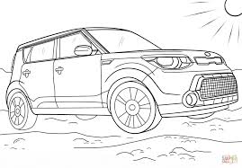 kia soul coloring page free printable coloring pages
