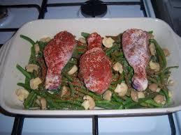 cuisiner un poulet au four haricots verts et poulet au four la cuisine de mimi