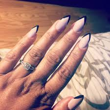 beautiful full set solar stiletto nails w gel i love them yelp