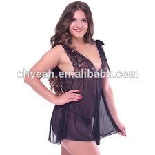 Honeymoon Lingere Black Backless Lady Transparent Honeymoon Lingerie