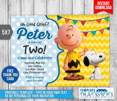 the peanuts invitation birthday invitation psd by