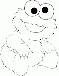 baby cookie monster coloring pages coloringstar