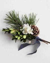 8 Elegant Winter Boutonnieres Martha Stewart Weddings