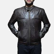 biker jacket men distressed leather jackets for men men u0027s distressed leather jackets