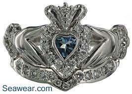 claddagh wedding ring set aquamarine claddagh wedding set i this and aquamarine is my