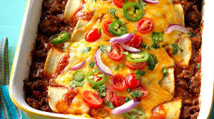 garlic beef enchiladas recipe taste of home