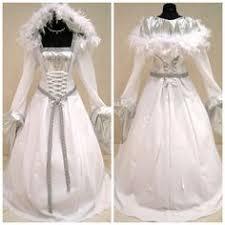 Halloween Costume Wedding Dress Medieval Dress Wedding Silver Costume 10 12 14 Snow Queen