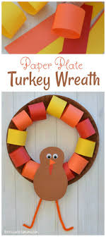 paper plate turkey wreath craft the resourceful
