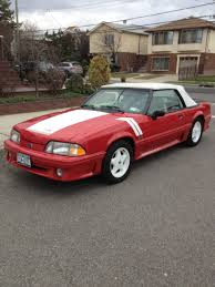 1990 Mustang Interior 1990 Mustang Gt Convertible Red White Interior Low Miles All