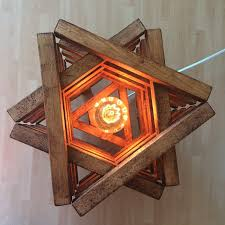 rustic floor lamp rustic light wood oak star shape handmade