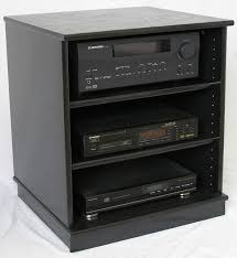 Stereo Cabinet Glass Door Small Black Oak Entertainment Center Stereo Cabinet 27 Inches High