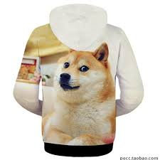 Dogee Meme - japanese doge meme jacket funny joke dog casual man hoodie