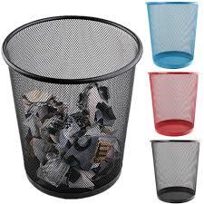 poubelle de chambre nouveau premier ministre en métal coloré maille corbeille à papier