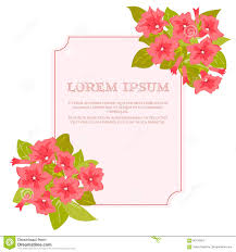 Marriage Card Pink Vintage Flowers Around The Frame With Sign For Wedding