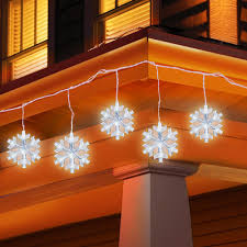holiday time string lights holiday time led snowflake icicle string christmas lights 5 count