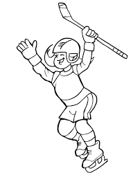 hockey coloring page hockey player www itsourice com