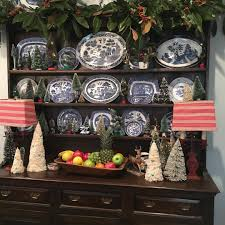 the welsh cupboard in my kitchen is decked out with my vintage