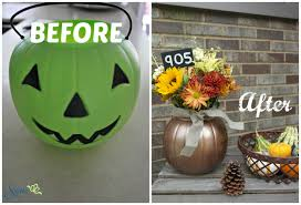 plastic pumpkins plastic pumpkin to planter sypsie designs