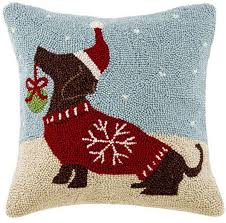 snowflake red dachshund christmas pillow a love of dogs u2013 for