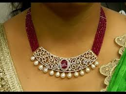 ruby beads necklace images Latest indian ruby beads diamond emerald jewellery designs jpg