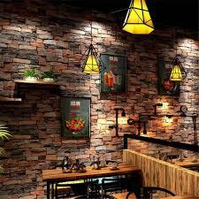 antique brick wallpaper 3d stereo marble block brick restaurant