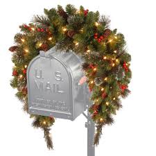 Outdoor Christmas Decorations Home Depot National Tree Company 3 Ft Battery Operated Crestwood Spruce