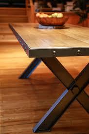 Table Acier Bois Industriel by Mobilier U2013 Atelier Fer U0027nen