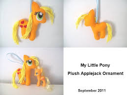my pony applejack plush by youremily on deviantart