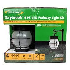 Low Voltage Landscape Lights Kit by Malibu Daybreak 4 Pack Led Pathway Light Kit Outdoor Night Lights
