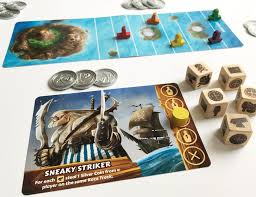 Card Game Design Tabletop Game Design With Pirates And Custom Made Wooden Dice